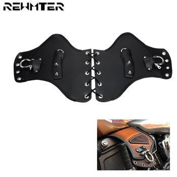Universal PU Leather Heat Saddle Shield Deflectors Black For Harley Sportster XL Dyna Softail Touring Road King For Yamaha