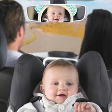 Мини-зеркало заднего вида с изображением животных из мультфильмов для детей, безопасное сиденье, подголовник, крепление для широкого обзора, зеркало заднего вида, подголовник для детей