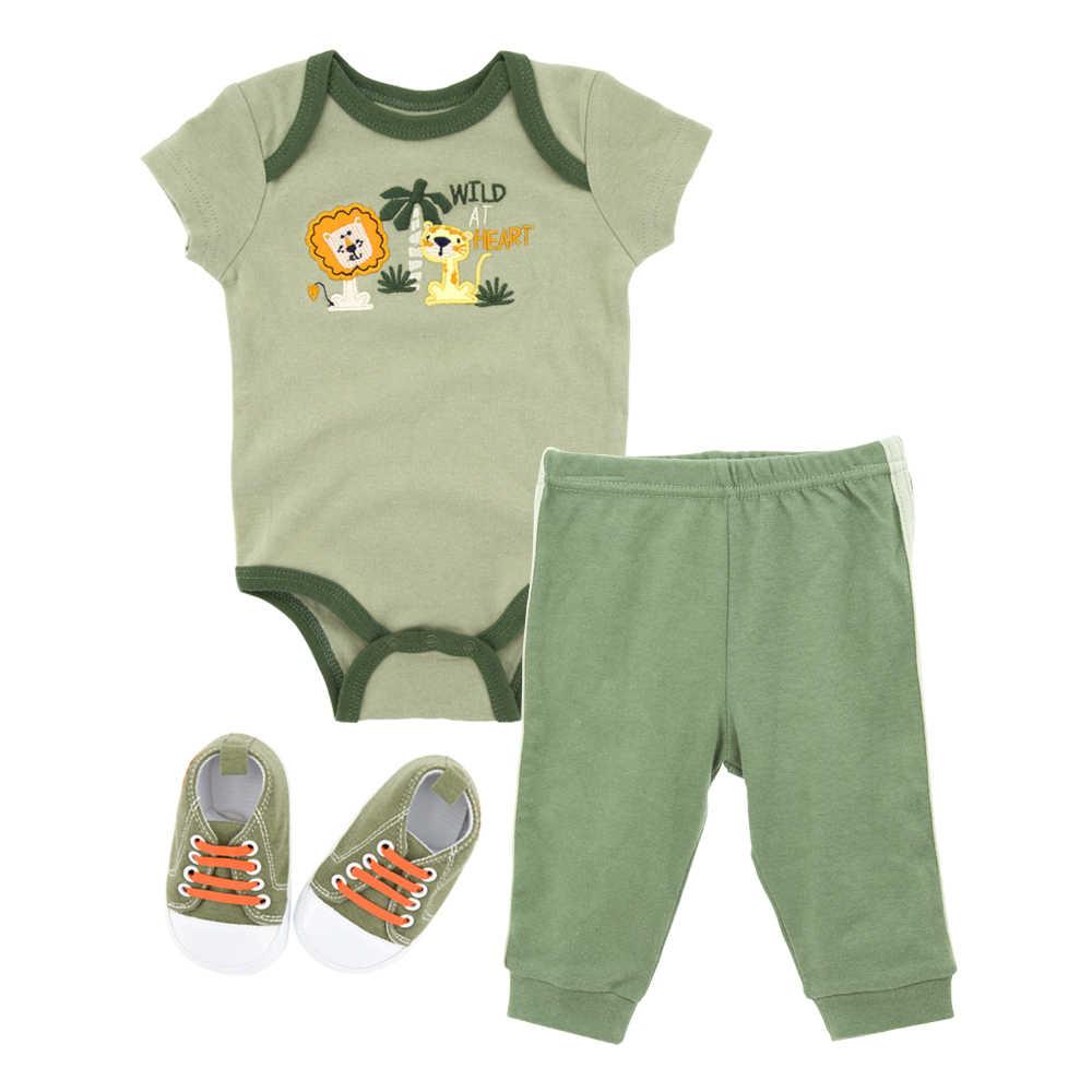 Honeyzone Kleding Sets Voor Pasgeboren 2020 Hot Koop Avocado Kleur Baby Jongens Outfits Infantil Kostuum Baby Body + broek + Schoen