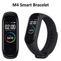 M4 Bracelet intelligent Fitness Bracelet couleur écran tactile Bracelet fréquence cardiaque pression artérielle Tracker étanche Fitness bande intelligente