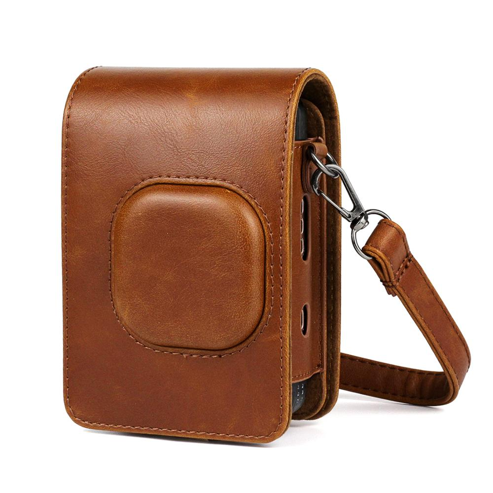 Retro Style Leather Camera bag For Fujifilm Instax Mini Liplay Camera Travel camera case With Shoulder Strap
