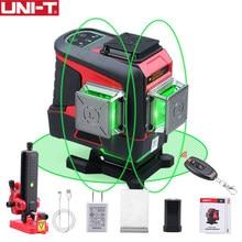 UNI-T lm576ld 16 linhas de nível laser 3d verde horizontal vertical auto-nivelamento laser nível de controle remoto (sem caixa de ferramentas)