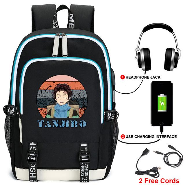 Demon Slayer Backpack USB Charging