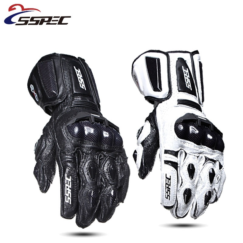 SSPEC Motorcycle Gloves Leather Carbon Fiber Warm Protective Gloves Waterproof Racing Gloves Motocross Riding Outdoor Glvoes XXL
