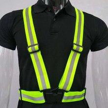 Chaleco reflectante de seguridad para correr, cintas reflectantes de alta visibilidad para trabajo nocturno, seguridad en ciclismo