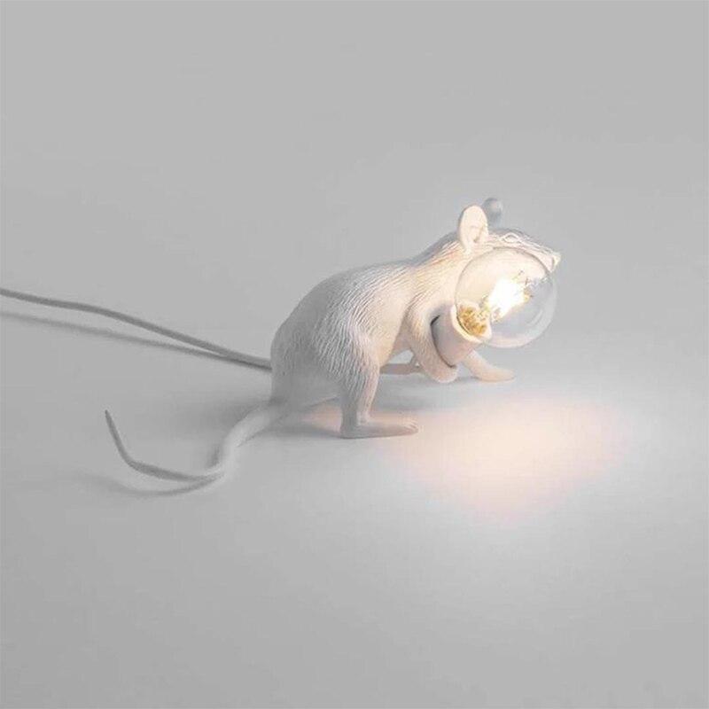 resina moderna rato rato lampada led candeeiro 02
