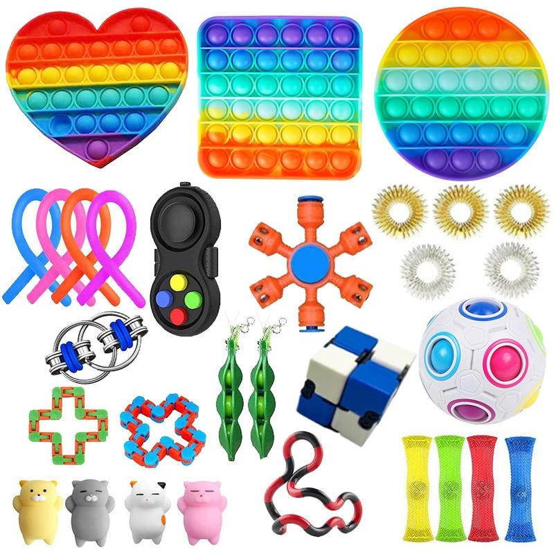 22 Pack Fidget Sensory Toy Set Stress Relief Toys for Kids Adults Fidget Sensory Toy