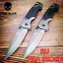 230mm 5CR15MOV Blade Quick Open Knives Folding Knife High Quality Pocket Knives Tactical Survival Tool Folder Blade G10 Handle round slitter knives circular shear blade