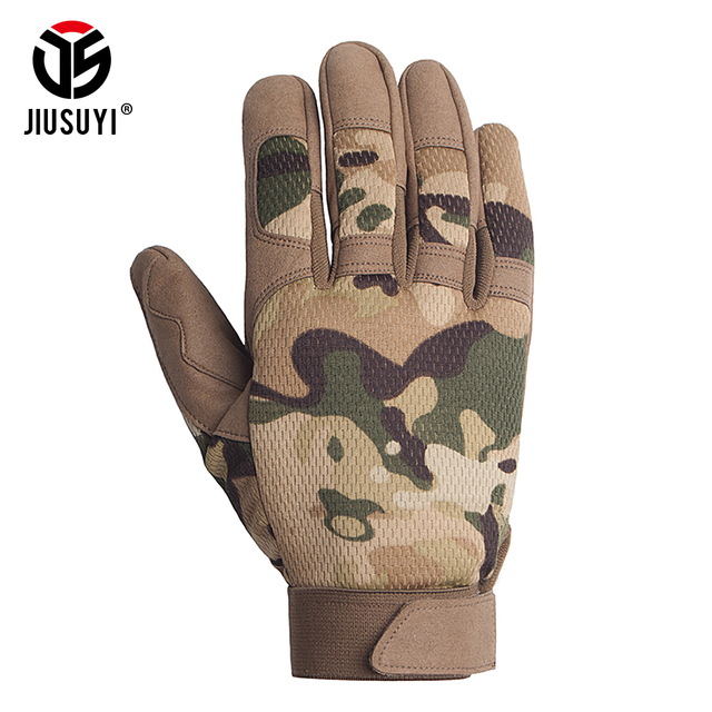 Multicam Tactical Gloves Antiskid Army Military Bicycle Airsoft Motocycel Shoot Paintball Work Gear Camo Full Finger Gloves Men 1