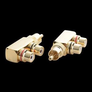 1 RCA Male to 2 RCA Female AV Audio Video Adapter Plug Splitter Converter Connector(China)