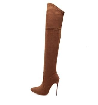 Γυναικείες Δερμάτινες Μπότες Πάνω απο το γόνατο