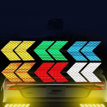 Car fender tail bar reflective stickers arrow fluorescent Stickers Vehicle Car Styling Accessories image