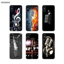 Music Studio Microphone For Huawei P Smart 2019 G7 G8 P7 P8 P10 Plus P20 P30 Pro P9 Lite Mini 2017 Soft Transparent Cases Covers(China)