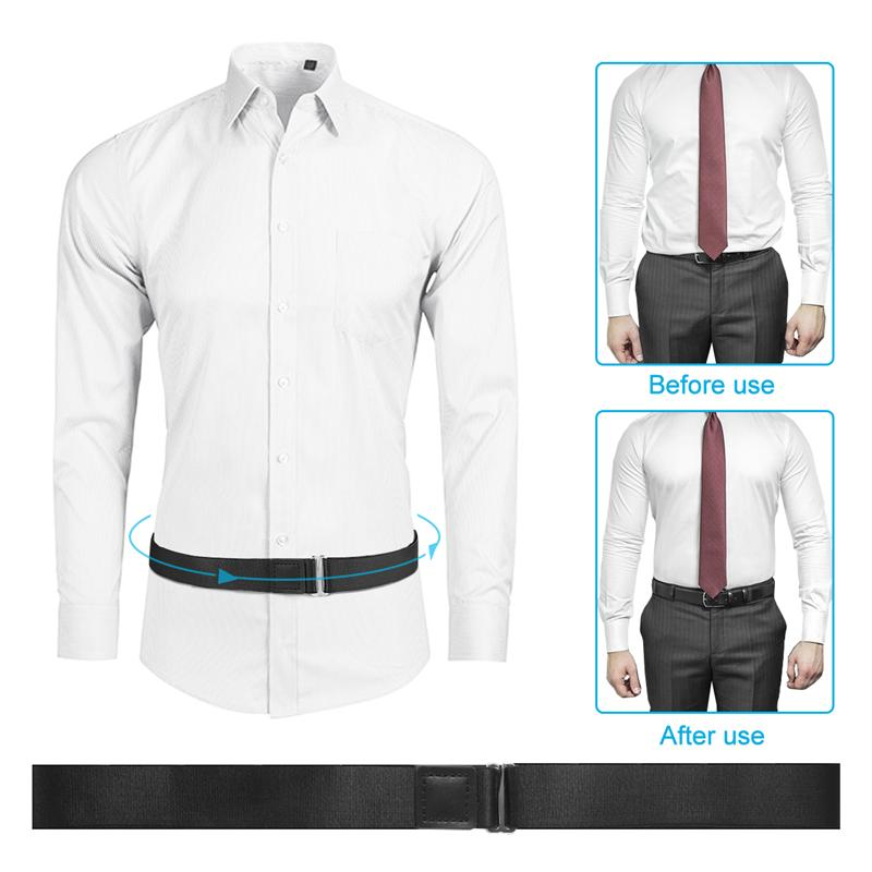ROSENICE Shirt Belt Adjustable Shirt Lock Undergarment Belt Anti-wrinkle Tieback for Men and Women Keeping Shirt Tucked in