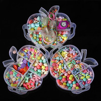 New Style DIY Color Children Beaded Bracelet Parent And Child Interactive Toy Accessories Apple 3 Tier with Line Set