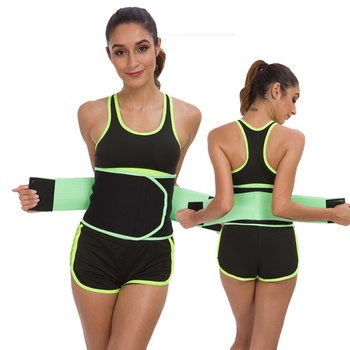 2019 New Waist Trimmer Belt Sweat Absorbed Fitness Wrap Band Tummy Stomach Sauna Sweat Belt
