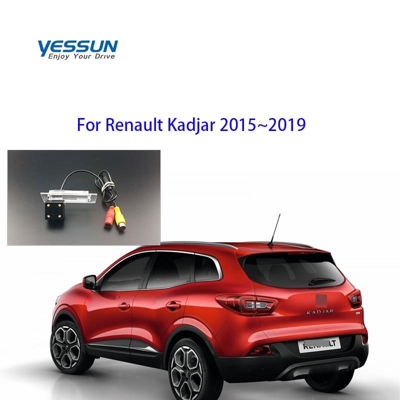 Yessun-caméra arrière de voiture pour Renault Kadjar | 2015 ~ 2019 caméra de stationnement/Vision nocturne/caméra plaque d'immatriculation/caméra de sauvegarde inversée