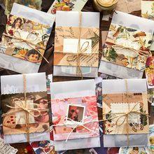 30 sztuk papierowy materiał garnitur dekoracyjne kolaż Scrapbooking/tworzenie kartek/pisanie pamiętnika DIY Kraft Retro papier do pisania karty