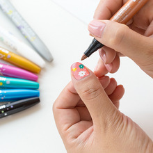 8 Color Nail Art Marker Pen Monami 1 7mm Fine Non-permanent Home DIY Marker Paint Decoration Korean Stationery Girl Gift A6472 cheap VALIOSOPA 8 Colors nail pen 8 Colors Box