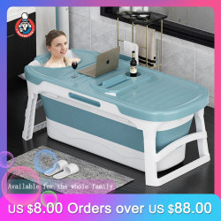 140cm Bathtub Folding Foldable Bathtub Adult  Full Body Wash Bath Tub Adult Home Bathtub Sit Bathtub Swimming Barrel Artifact