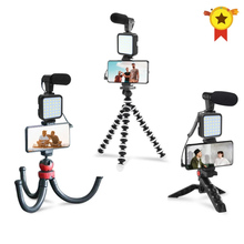 Octopus Tripod Gopro-Camera Photography-Set Mobile-Phone Fill-Light Live-Video for iPhone/8/11/..