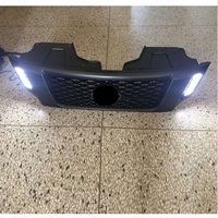 MODIFIED FRONT MASH MASK COVER TRIMS MATTE BLACK ABS GRILL GRILLS FIT FOR NAVARA NP300 D23 2015-2017 WITH LED DRL GRILLE PARTS