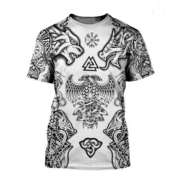 Viking symbol - odin Tattoo 3D Printed men t shirt Harajuku Fashion Short sleeve shirt summer streetwear Unisex tshirt tops 2