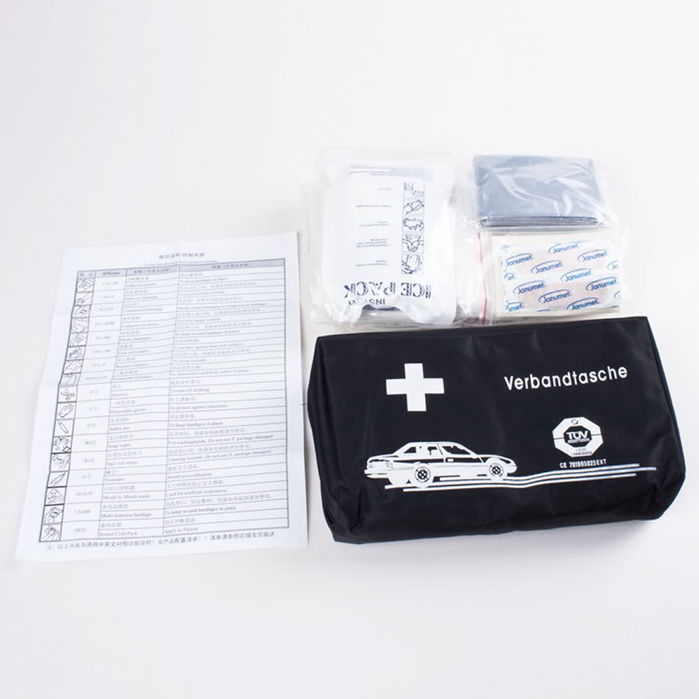 Emergency Medical Survival Treatment Rescue Box First Aid Kit Waterproof EVA Bag Person Portable Outdoor Travel Drug Pack Kits