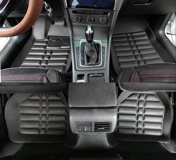 Custom car floor mats for mitsubishi outlander xl pajero 4 sport lancer grandis galant asx leather car mats auto accessories image