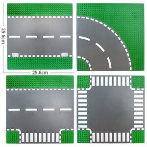 Image 2 - עיר כביש רחוב Baseplate DIY אבני בניין לבנים בסיס צלחת תואם כל מותגים עיר שולחן 7280 צעצועים לילדים