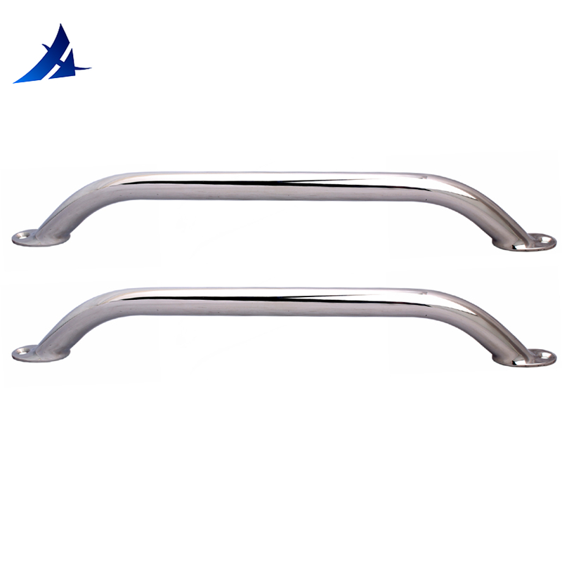 2 Pieces Stainless Steel 12'' Boat Polished Boat Marine Grab Handle Handrail  Boat Accessories Marine