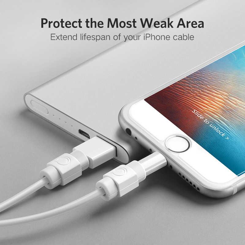 UGREENสายเคเบิลสำหรับiPhoneชาร์จป้องกันสายUSBสายไฟSaverกัดสายUSB ChompersสำหรับiPhone Protector