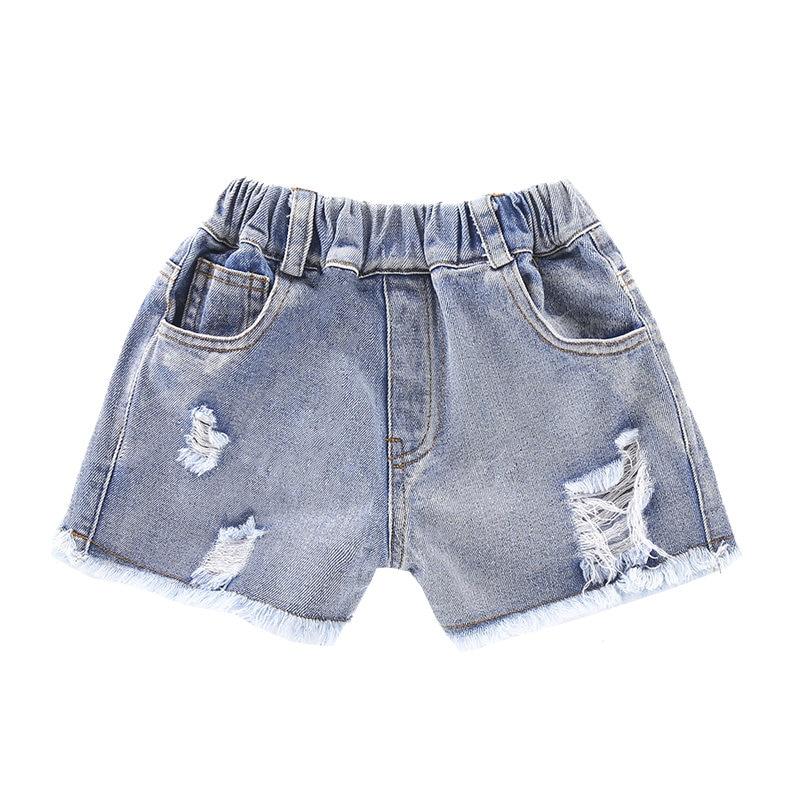 Kid Girl Shorts Jean Hot Design Summer Cotton Teenage Children's Shorts Kids Ripped Denim Shorts for Girls Clothes Girl Clothing 1