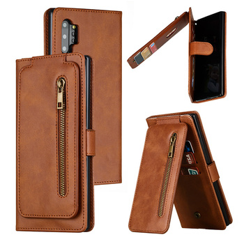 Zipper Wallet Case For Samsung S20 Ultra Note 10 Plus 9 8 A70 A50 A30 A20E A7 A8 S8 S9 S10 Plus S7 Edge Flip Leather Phone Cases