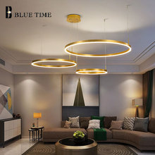 Modern LED Circle Pendant Lamp Hanging Lights For Bedroom Dining Room Living Room Acrylic LED Pendant Lamp Home Lighting Fixture holigoo pendant lamp acrylic stainless restaurant bedroom decorative pendant lights lamparas living room home lighting lampe