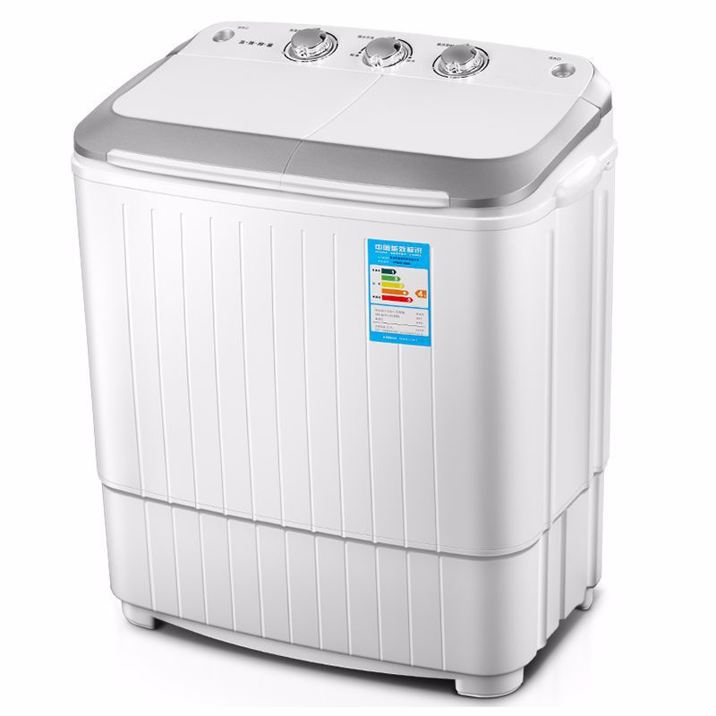 5KG Double Barrel Mini Household Washing Machine Washer And Dryer Stainless Steel Barrel Clothes Washer  Mini Laundry Machine