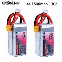 Conector recarregável da tomada xt60 da bateria de gaoneng gnb 4S 1550mah 14.8v 130c/260c lipo para rc modelos quadro multicopter accs