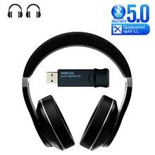 Bluetooth Della Cuffia + USB Trasmettitore per Guardare la TV PS4 Gioco Per PC Aptx Bassa Latenza Audio Trasduttore Auricolare Senza Fili con Microfono