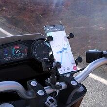 X Grip Motorrad Telefon Halter Doppel Ball 360 Drehbare Halterung Stehen für 4-6 zoll Smartphone Für Honda yamaha Kwasaki