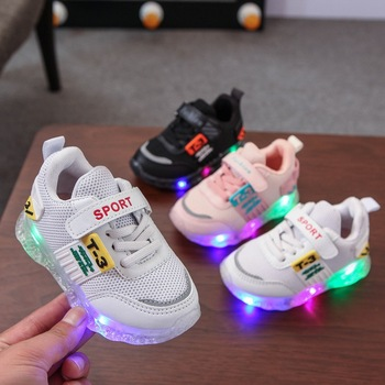 New Brand Fashion Solid Baby First Walkers High Quality LED Lovely Infant Tennis Shoes Cute Girls Boys Sneakers Toddlers canvas fashion cute lovely shoes children glowing cartoon baby toddlers slip on cool baby girls boys shoes infant tennis