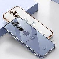 Zeallion für Xiaomi Redmi 9 9A K20 Hinweis 8 9 10 Pro 6D Überzug Weiche TPU Fall Fashion Überzug Ahorn blatt Neue Fall mit Lanyard