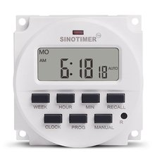 цена на SINOTIMER TM618N-2 220V LCD Digital AC Programmable Timer Switch With UL Listed Relay Inside with Countdown Time Function