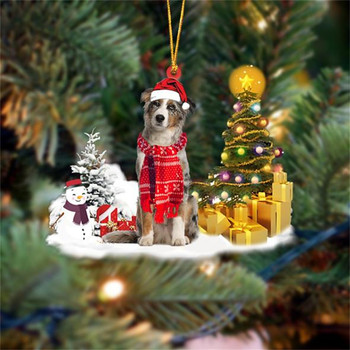 Dog Snowman Ornament  2