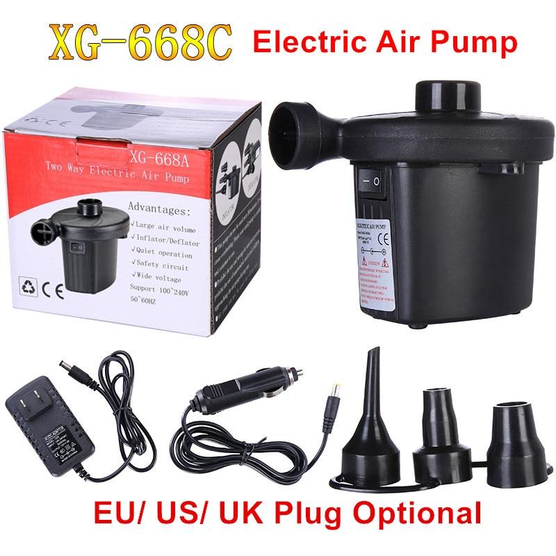 Inflatable Pump Electric Air Mattress Camping Pump Air Compressor Portable Inflator Air Pump For Home Use EU US UK Plug