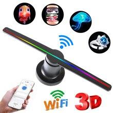 Wifi 3D голограмма проектор светильник рекламный дисплей светодиодный голографическая визуализация лампа магазин корабль отель дисплей логотип светильник