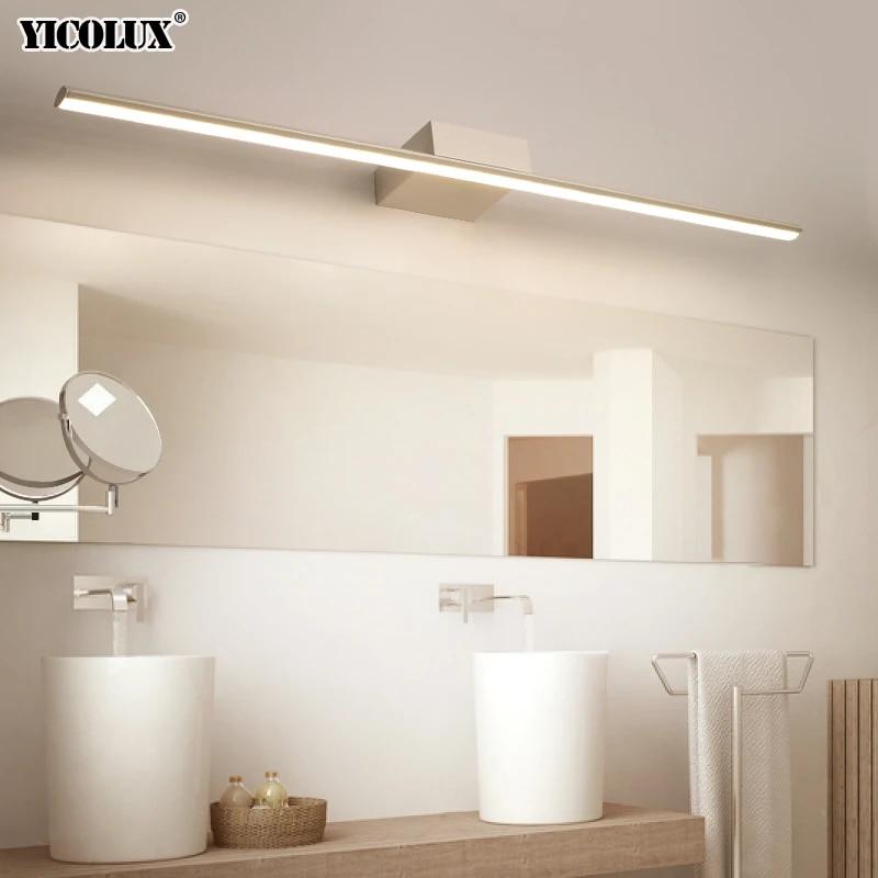 wall lamp led bathroom mirror lights black white 400 600 800 1000 1200mm modern makeup dressing bathroom led mirror lamp fixture