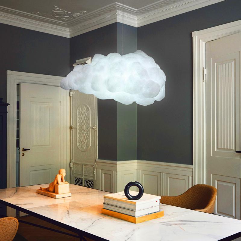 Modern bulut kolye ışıkları ana yatak odası oturma odası iç asılı lamba sanat kolye lamba mutfak Cafe Hanglamp çatı parlaklık|Kolye ışıkları|Işıklar ve Aydınlatma - title=