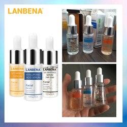 LANBENA Vitamina C Soro + Seis Peptídeos 24K Ouro + Soro Ácido Hialurônico Soro Hidratante Anti-Envelhecimento Da Pele cuidado de Clareamento Ilumine