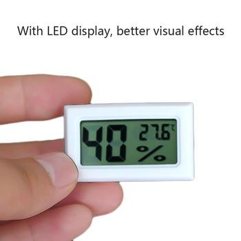 1Pc Mini Indoor Thermometer Digital LCD Temperature Sensor Humidity Meter Thermometer Hygrometer Gauge Fridge Thermometers 5