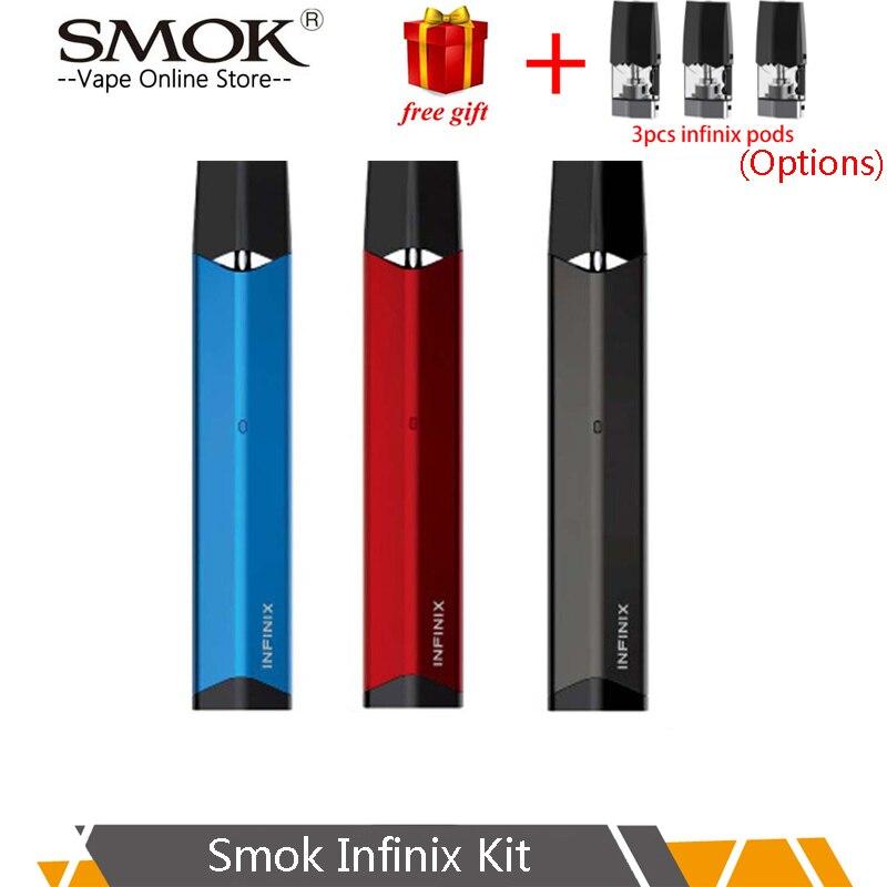 SMOK 2 INFINIX pod vape Kit embutido 250mAh bateria capacidade ml SMOK Vape Pen Vaporizador Cigarro Eletrônico starter kit